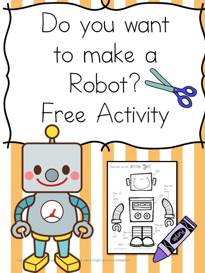 Do you want to make a Robot? Fun Letter R Activity!  Make a robot... Fun free activity -great for preschool or  kindergarten students.