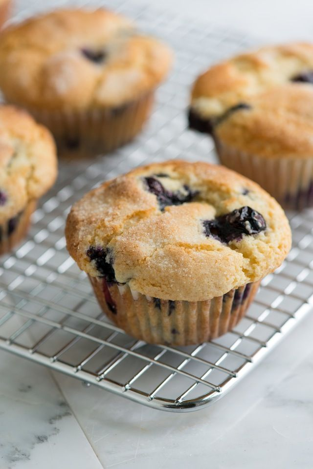 You only need one bowl to make this easy blueberry muffin recipe with blueberries, flour, sugar, vanilla, and vegetable oil. This is by far one of our absolute favorite blueberry muffin recipes. From inspiredtaste.net | @inspiredtaste