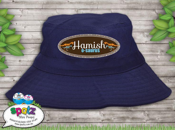 Dinosaurs Rock - Personalised Kids Bucket Hat