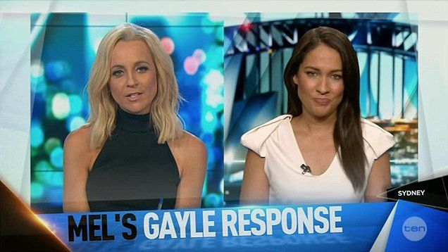 Sport journalist Mel McLaughlin talks about her awkward interview with Chris Gayle on The Project.