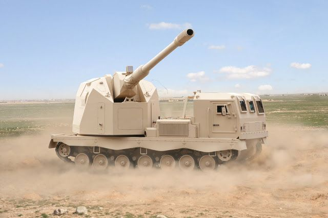 Proposed 52 caliber autonomous cannon with a 155mm barrel, high rate of fire self-propelled artillery for the Israeli Defense Forces.  The vehicle would have a crew which is as small as needed for its operation.