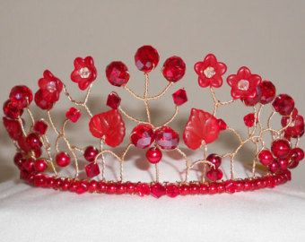 PRICE REDUCTION White Russian Tiara with White Pearls and