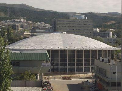 Παλαί ντε Σπορ, Θεσσαλονίκη - Στεγανοποίηση κελύφους οροφής με ασφαλτόπανα επικάλυψης φύλλου αλουμινίου (1977)