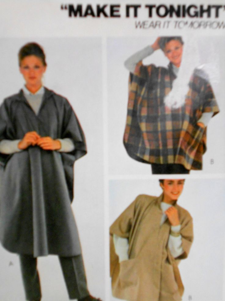 Unique Sewing Pattern For Poncho Vignette - Blanket Knitting Pattern ...