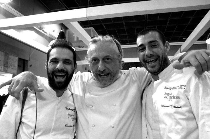 Tris di Chef - Davide Scabin, Christian e Manuel Costardi - ph. C. Pellerino - @chefchristian - #biteg #SalonedelGusto