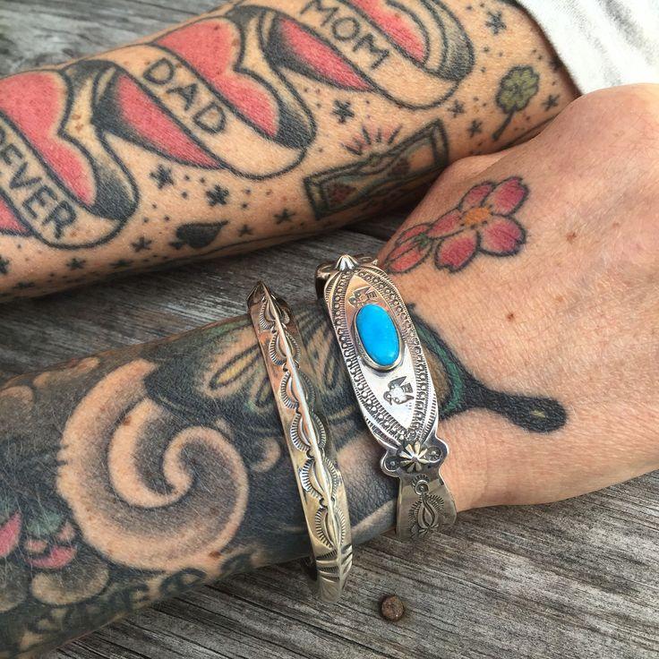 Larry Smith Bracelets. (made in japan, craftsmanship, silver, turquoise, thunderbird)