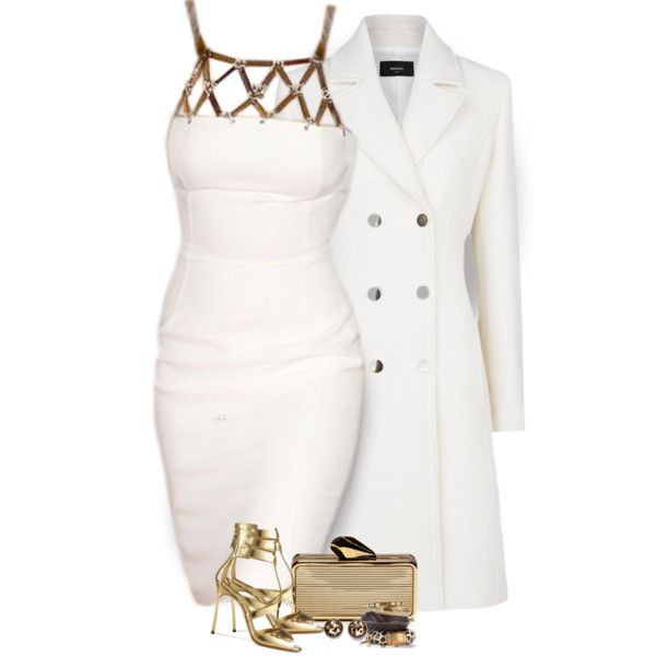 """""""White and Gold"""" by f180289 on Polyvore"""