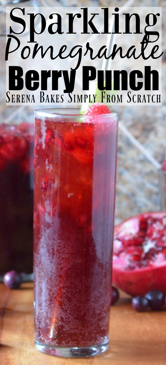 Sparkling Pomegranate Berry Punch Cocktail aka Jingle Juice perfect for Christmas!