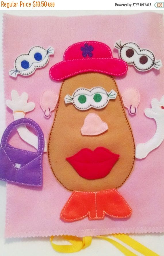 SALE Mrs Potato head felt mat game educational game learning toy busy bags and quiet books Eco-Friendly felt game