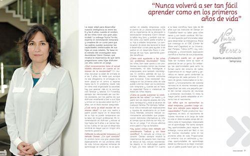 Entrevista a Nuria Ferres, experta en estimulación temprana