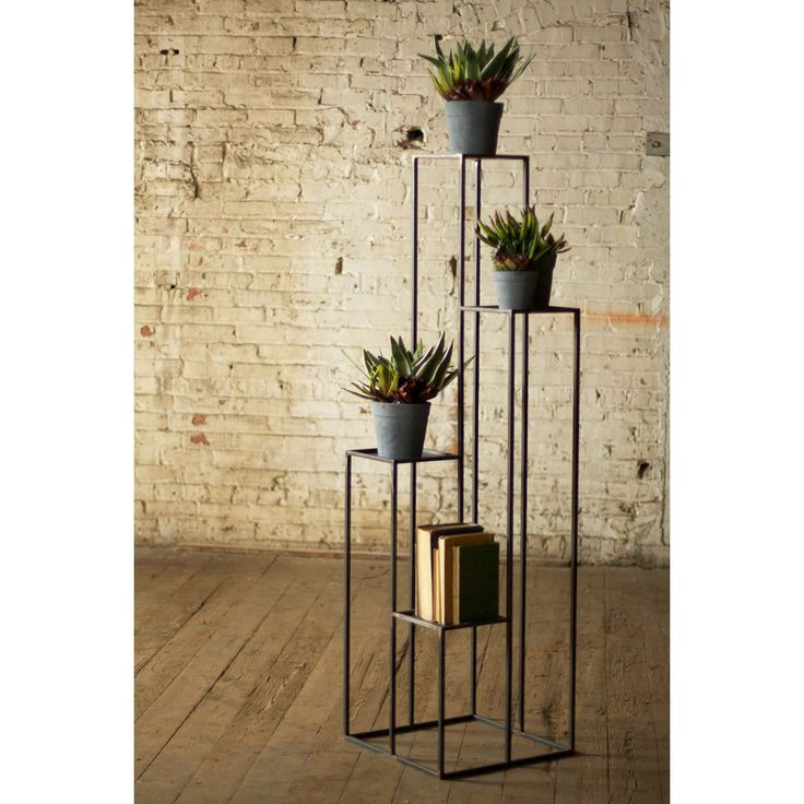 4-Tiered Open Pedestal Stand - The Bohemian Lifestyle Collection - Dot & Bo