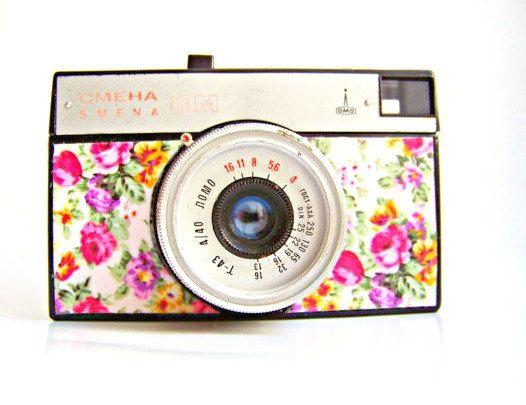 Functional SMENA 8M flower lomo camera 1960s by Mydd on Etsy