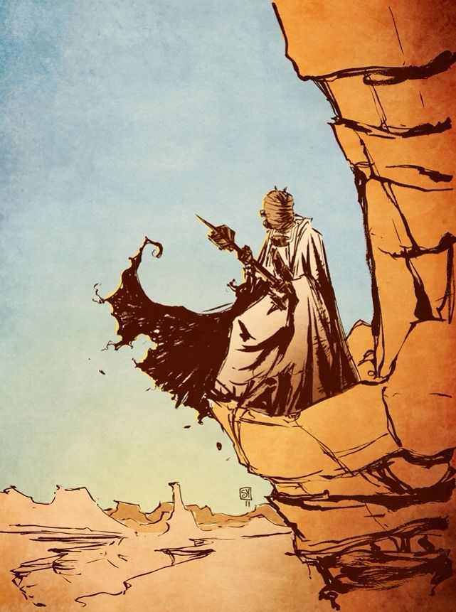 Tusken Raider by Skottie Young. The world needs more Tusken Raider art, all there is to it.