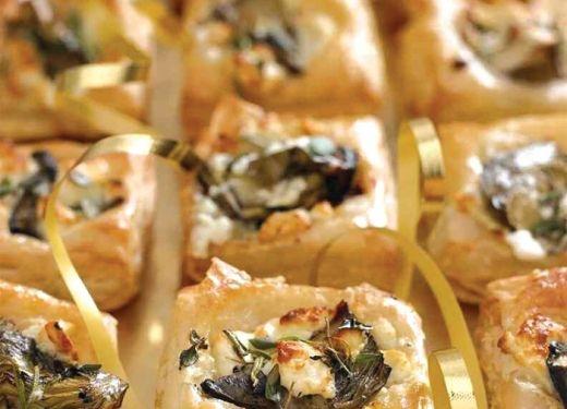 Feta and artichoke canapes recipe cook vegetarian for Vegetarian canape ideas