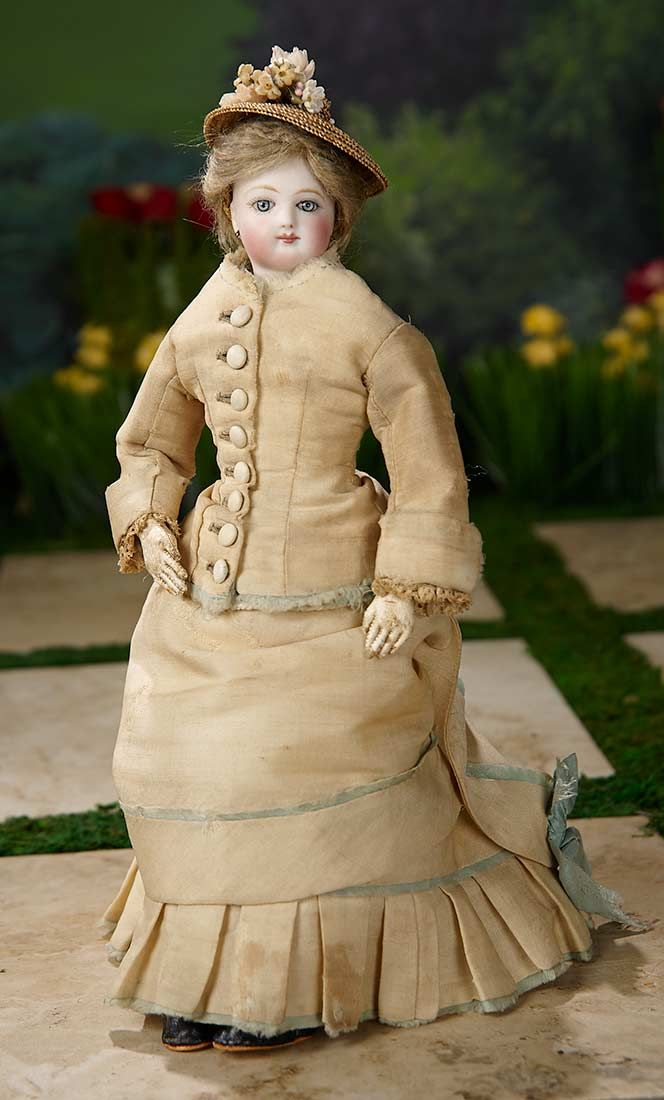 """""""I Only Wanted to Wonder"""" - August 1, 2017: 353 Petite French Bisque Poupee, Size 0, with Original Fashionable Costume"""