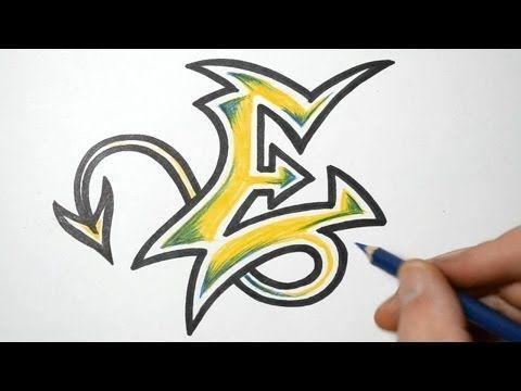 How to do Graffiti Writing - Letter E