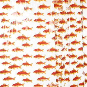 Goldfish Theme Shower Curtain