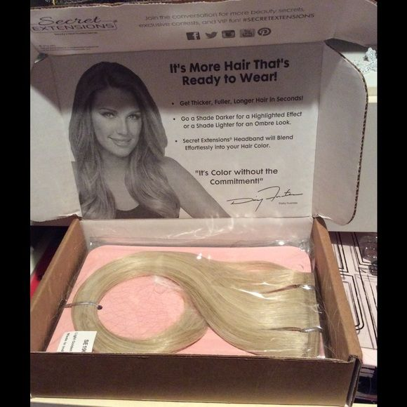 New Daisy Fuentes Invisible Band Hair Extensions New Daisy Fuentes Invisible Band Hair Extensions. Set of two. Light Golden Blonde. Comes from a pet and smoke free environment. Will bundle and accept reasonable offers. Fast shipping. Daisy Fuentes Other