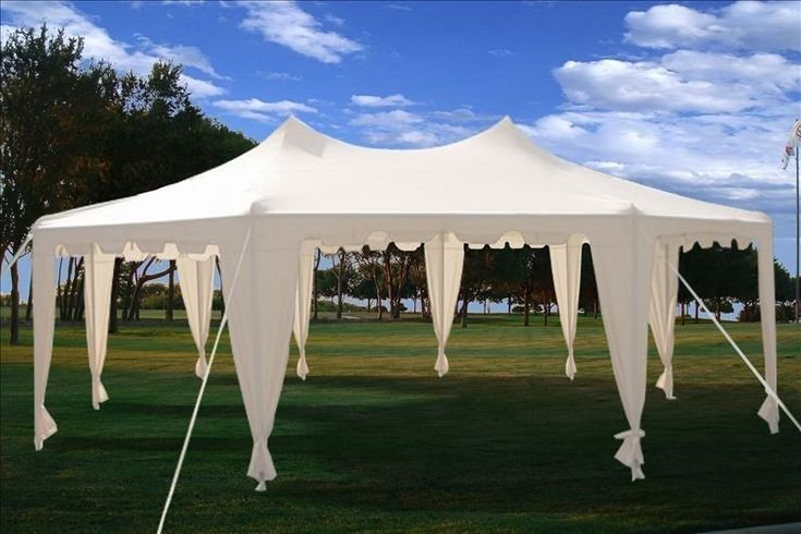 29x21+Octagonal+Octagon+Wedding+Party+Gazebo+Tent+Canopy+White
