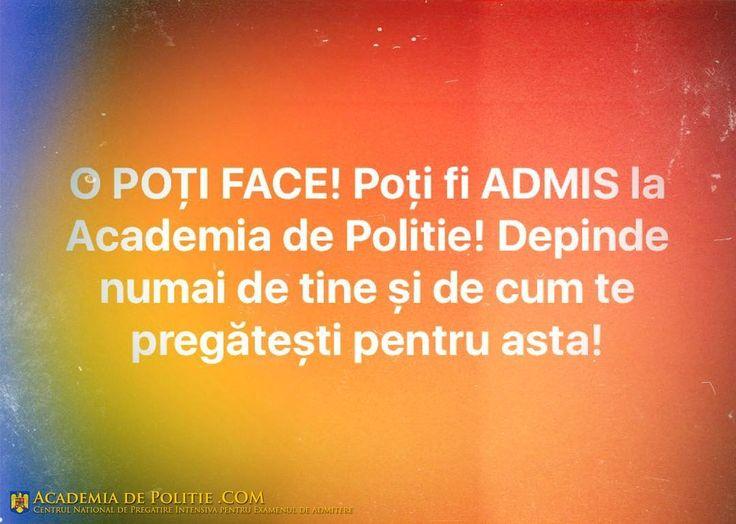 TAG pe cineva care va participa la Examenul de Admitere la Academia de Politie!  Academiadepolitie.com - Pregatire Intensiva Examen Admitere #academiadepolitie