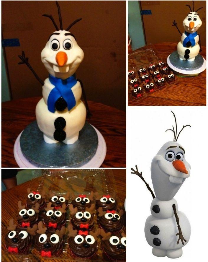 Disney frozen olaf cake olaf cake from disney s frozen head made of