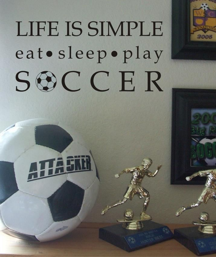 Eat Sleep Play Soccer Wall Decal