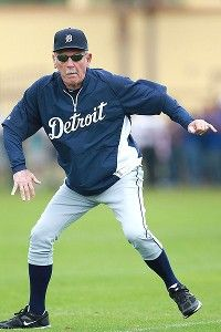 Leyland showing his moves ... or something.