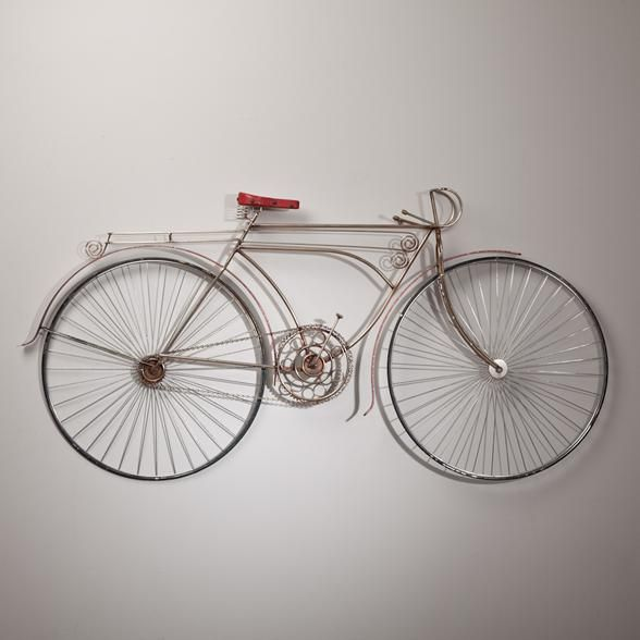 Curtis jere metal bicycle wall sculpture usa 1986 for Bicycle wheel wall art