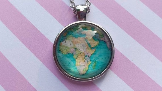 Africa pendant necklace by SillySquirrelJewelry on Etsy