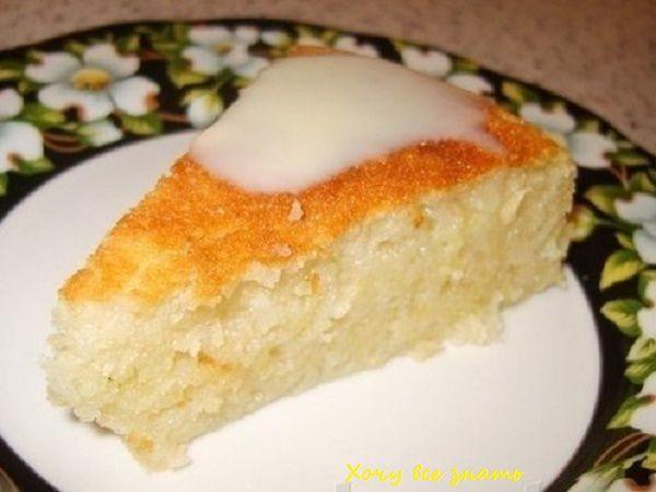 Рецепт манного пирога с яблоками