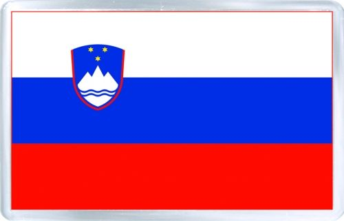 $3.29 - Acrylic Fridge Magnet: Slovenia. Flag of Slovenia