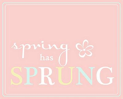 Lots of Springy type printables and ideas.