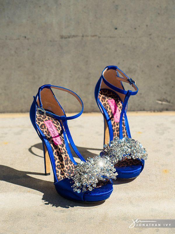 Betsy Johnson Bling Wedding Shoes #weddingshoes #blingbling