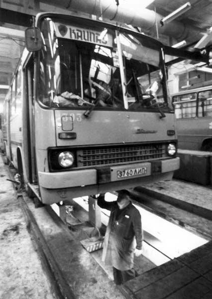 Ikarus autobusai Lietuvoje - Miestai ir architektūra
