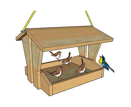Passo a Passo grátis para a montagem de um lindo Alimentador de Pássaros . Dê mais vida ao seu sítio, varanda ou quintal