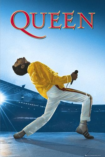 Queen Freddie Mercury LIVE AT WEMBLEY Concert Poster
