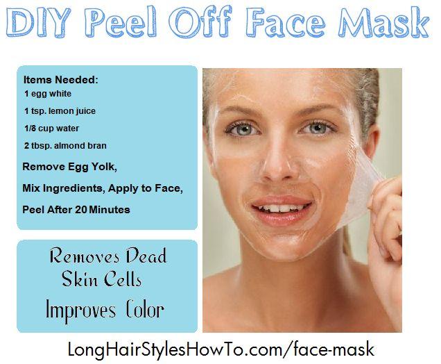 DIY Citrus Peel Off Face Mask