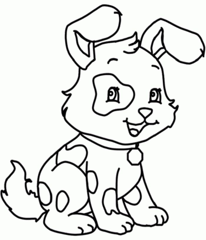Funny Little Dog Coloring Pages For Kids Animal Coloring
