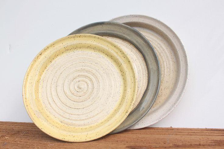 Stoneware dinner plates by Stinging Nettle Studio