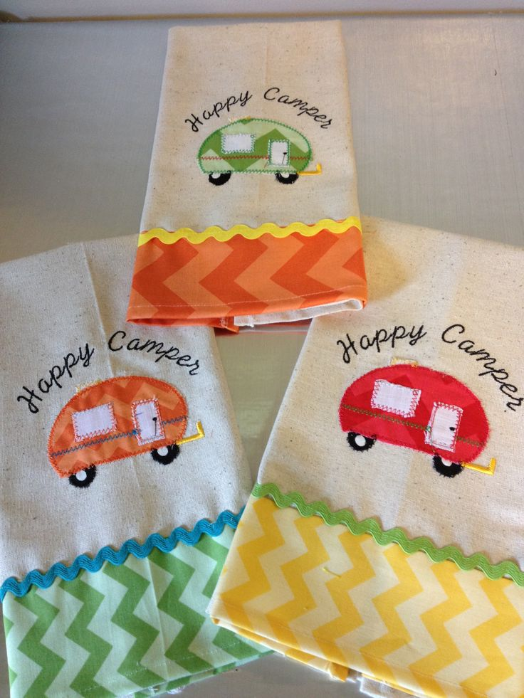 Cutest dish towels ever, but could do it on a sweatshirt, etc. with machine embroidery.