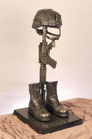 boots gun helmet statue | Go Back > Gallery For > Military ...