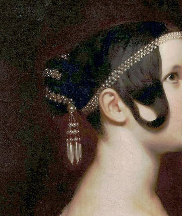 ARY SCHEFFER (1795-1858) Portrait of a Lady with Pearls, circa 1830-1840