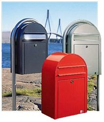 Bobi Mailbox, unique mailboxes, cool mailboxes, stainless steel mailbox, no rust mailbox, contemporary mailboxes, mailboxes for in a gate, r...