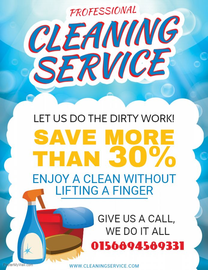 Professional house cleaning service flyer sample Cleaning Service