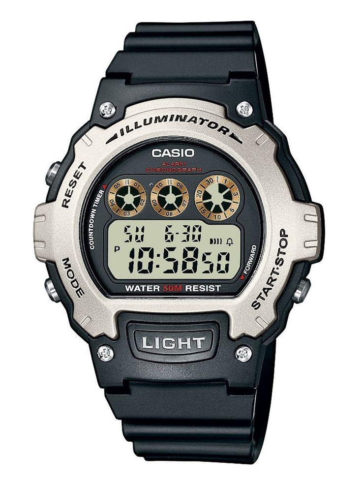 Casio - Black/Silver 50m Digital Watch - Mens
