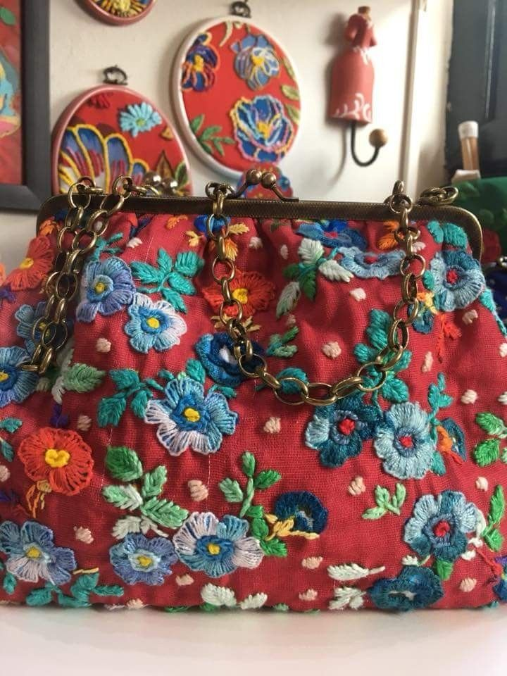 Full Yokes Flowers Embroidery Bags Lace Bag Beaded Embroidery