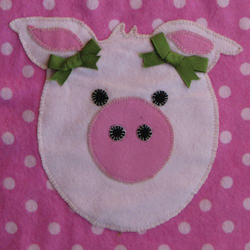 Free Applique Patterns | Applique Pattern for Blankets and Bibs - Wiggly Pig