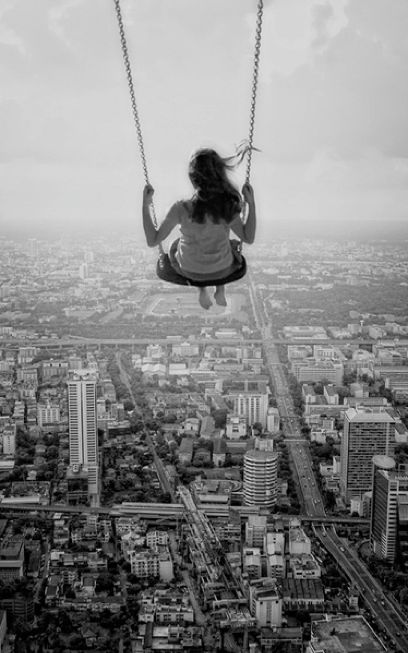 I think my heart would drop each time I swing forward!