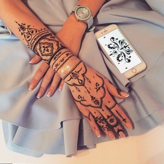 henna tattoo pinterest female thigh. Black Bedroom Furniture Sets. Home Design Ideas