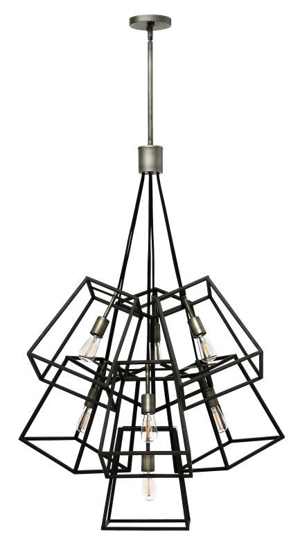 Hinkley Lighting 3357 7 Light Large Multi Light Pendant From The Fulton  Collecti Aged Zinc Indoor